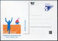 (1996) CDV 18a ** - P 17a - Atlanta 96 světlemodrý přítisk