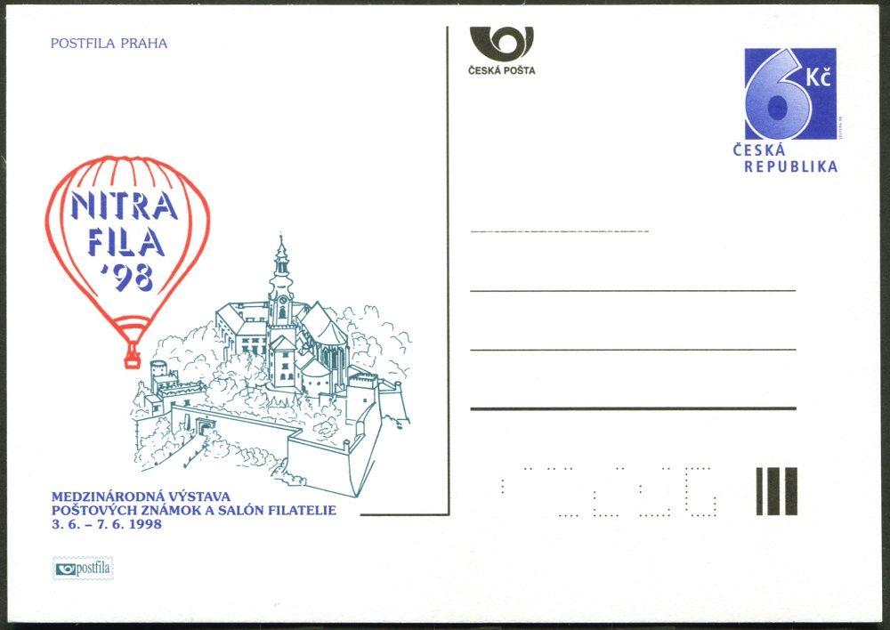 (1998) CDV 32 ** - P 33 - Nitrafila 98 - mezinárodní výstava poštovních známek