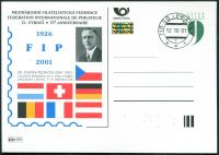 (2001) CDV 64 O - P 74 - 75. výročí FIP - razítko