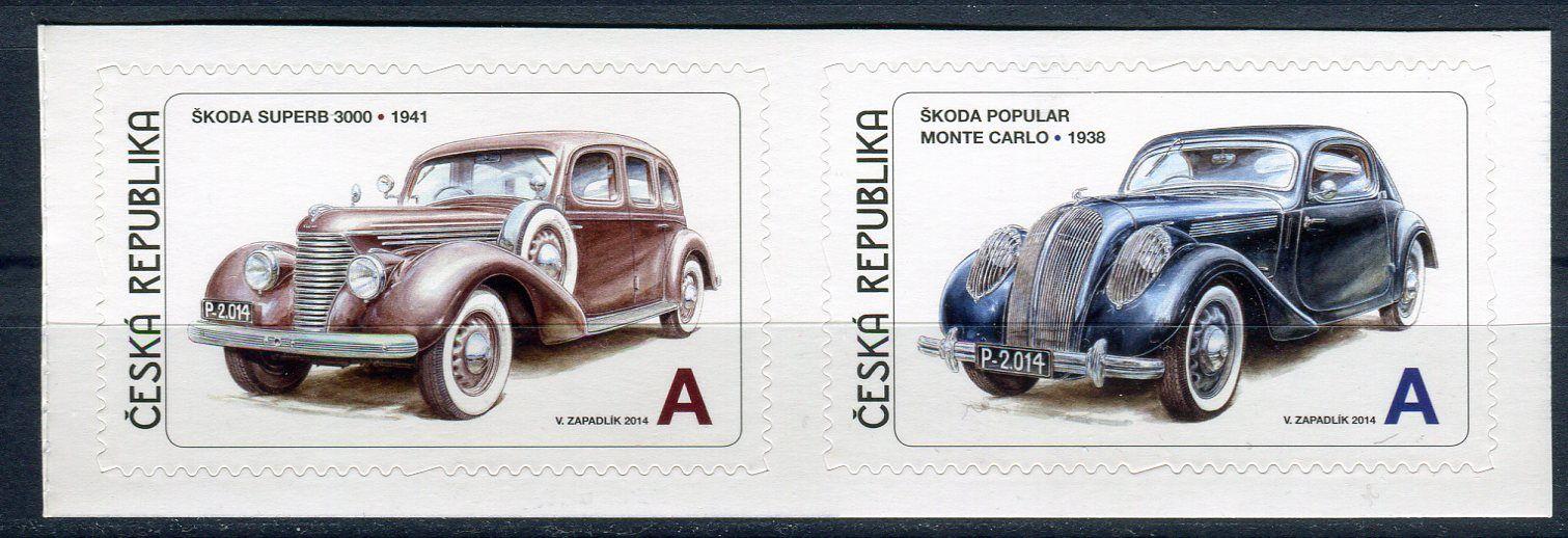 Česká pošta (2014) č. 819 - 820 ** - Česká republika - 2-bl - Václav Zapadlík . Česká auta - Škoda II.