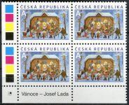 """(2014) č. 828 ** - Česká republika - 4-bl - Vánoce """"A"""" - Lada"""