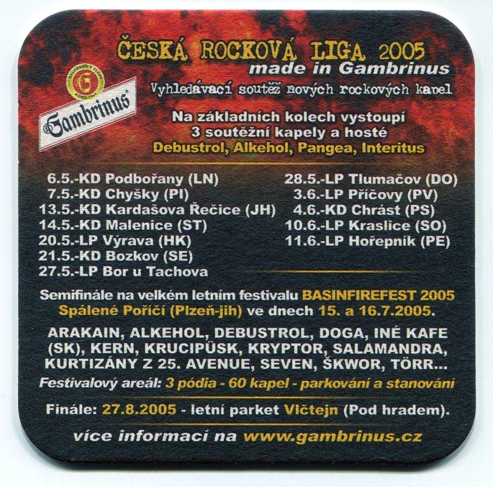 Plzeň - Gambrinus - Chuť rozjet to s přáteli - Česká rocková liga 2005
