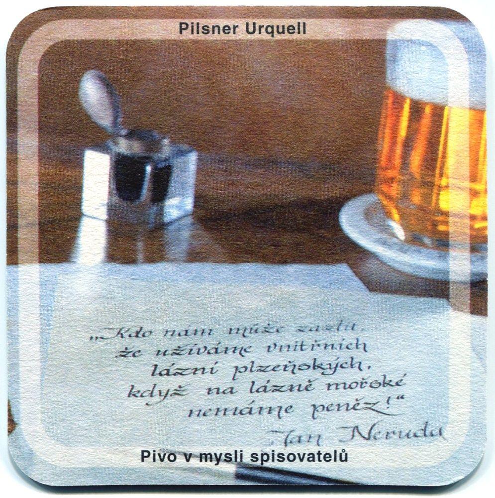 Plzeň - Pilsner Urquell - Pivo v mysli spisovatelů