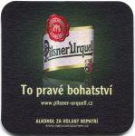 """Plzeň - Pilsner Urquell - To pravé bohatství - nápis """"ALKOHOL..."""" má délku 44mm"""