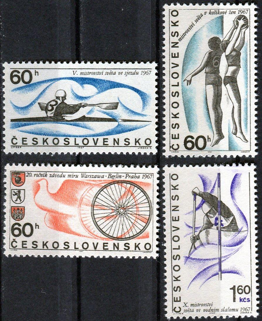 Českosloveská pošta (1967) č. 1607 - 1610 ** - ČSSR - Sportovní události
