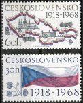 (1968) č. 1719 - 1720 ** - Československo - 50. výročí vzniku Československa