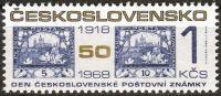 (1968) č. 1740 ** - Československo - Den čs. poštovní známky 1968