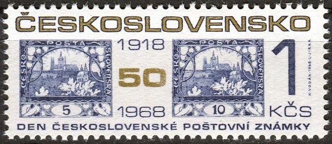 (1968) č. 1740 ** - ČSSR - Den čs. poštovní známky 1968
