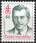 (1998) č. 168 ** - 4,60 Kč - Česká republika - Prezident Václav Havel