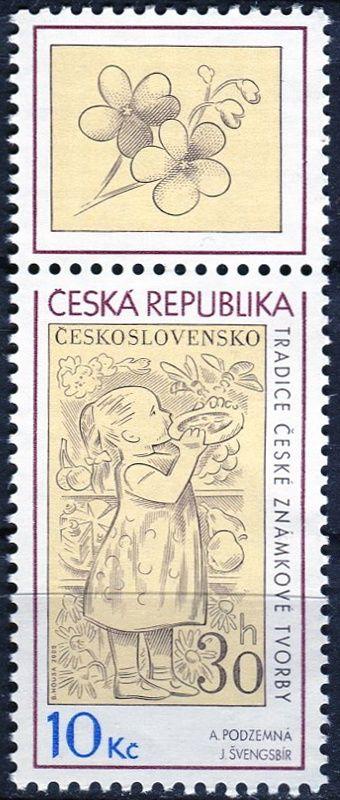 (2009) č. 587 ** - ČR - Tradice české známkové tvorby KH