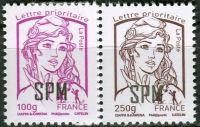 (2014) MiNr. 1194 - 1195 ** - Saint Pierre a Miquelon - Marianne (Ciappa und Kawena)