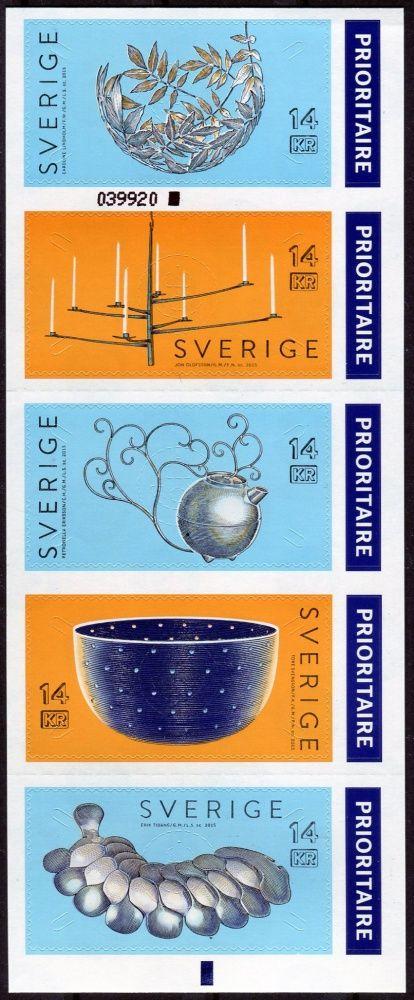 (2015) MiNr. 3083 - 3087 ** - Švédsko - Švédský design: stříbrné kovářství
