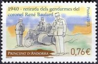 (2015) MiNo. 787 ** - Andorra (Fr.) - 75th anniversary of the withdrawal of the French police forces