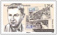 (2015) MiNr. 796 ** - Andora (Fr.) -  100. výročí Ramon d'Areny-Plandolit
