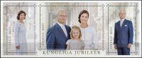 Zobrazit detail - (2016) MiNr. 3095 - 3097 ** - Švédsko - BLOCK 52 - Královská jubilea