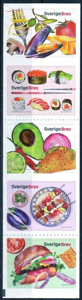 Švédská pošta (2016) MiNr. 3104 - 3108 ** - Švédsko - Populární mezinárodní kuchyně (I)
