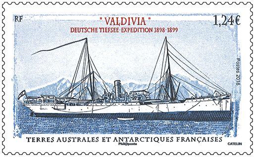 "(2016) MiNr. 924 ** - FA - Výzkumné plavidlo ""Valdivia"""