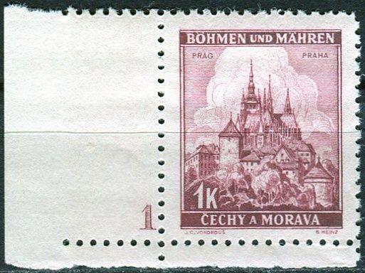 Protektorát Čechy a Morava (1939) č. 31 ** - B.u.M. - Krajiny, hrady a města - Praha - d.č. 1