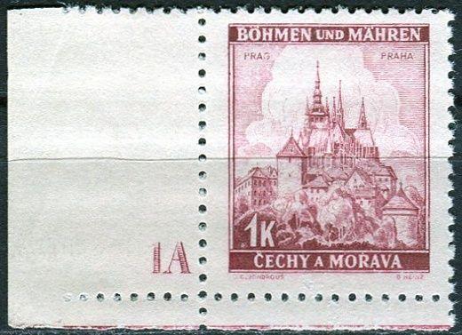 Protektorát Čechy a Morava (1939) č. 31 ** - B.u.M. - Krajiny, hrady a města - Praha - d.č. 1A