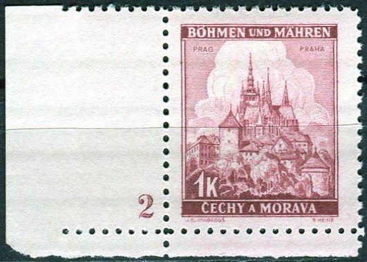 Protektorát Čechy a Morava (1939) č. 31 ** - B.u.M. - Krajiny, hrady a města - Praha - d.č. 2