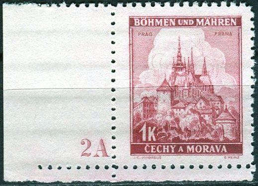 Protektorát Čechy a Morava (1939) č. 31 ** - B.u.M. - Krajiny, hrady a města - Praha - d.č. 2A