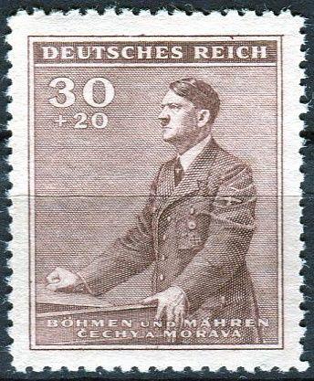 Protektorát Čechy a Morava (1942) č. 74 ** - B.ü.M. - 53. narozeniny A. Hitlera
