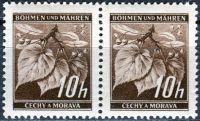 (1939) č. 21 ** B.ü.M. - 2-bl - Lipové listy - DV - 4,5