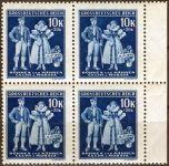 (1944) č. 115 ** B.ü.M - 4-bl - 5. výročí vzniku Protektorátu - DV
