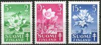 (1950) MiNr. 385 - 387 ** - Finsko - Proti tuberkulóze