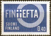 (1967) MiNr. 619 ** - Finsko - Finland associate member of EFTA (FINE FTA)