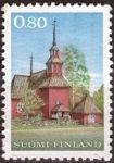 (1970) MiNr. 671 ** - Finsko - Dřevěný kostel v Keuruu