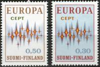 (1972) MiNr. 700 - 701 ** - Finsko - Europa