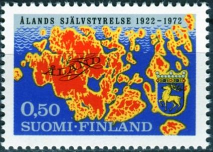 Posti Finland (1972) MiNr. 704 ** - Finsko - 50 let samosprávy Ahvenanmaa- oblasti (Åland)