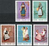 (1973) MiNr. 733 - 737 ** - Finsko - kroje