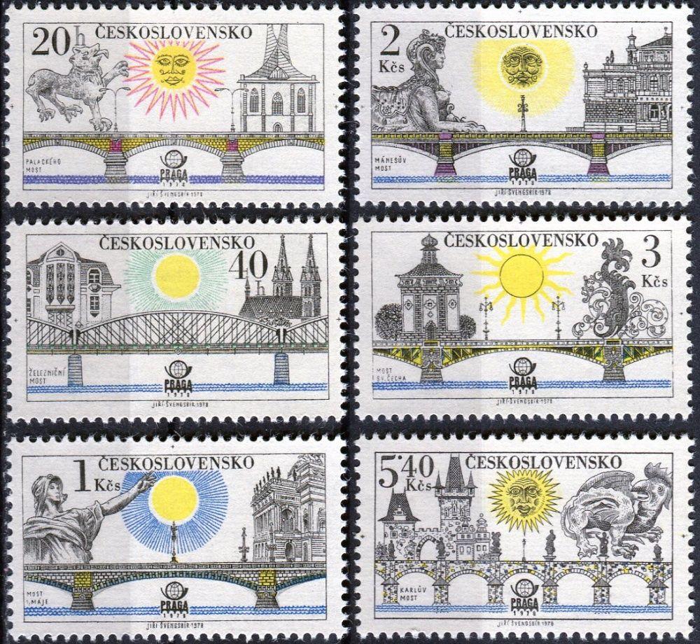 (1978) č. 2316 - 2321 ** - ČSSR - Pražské mosty
