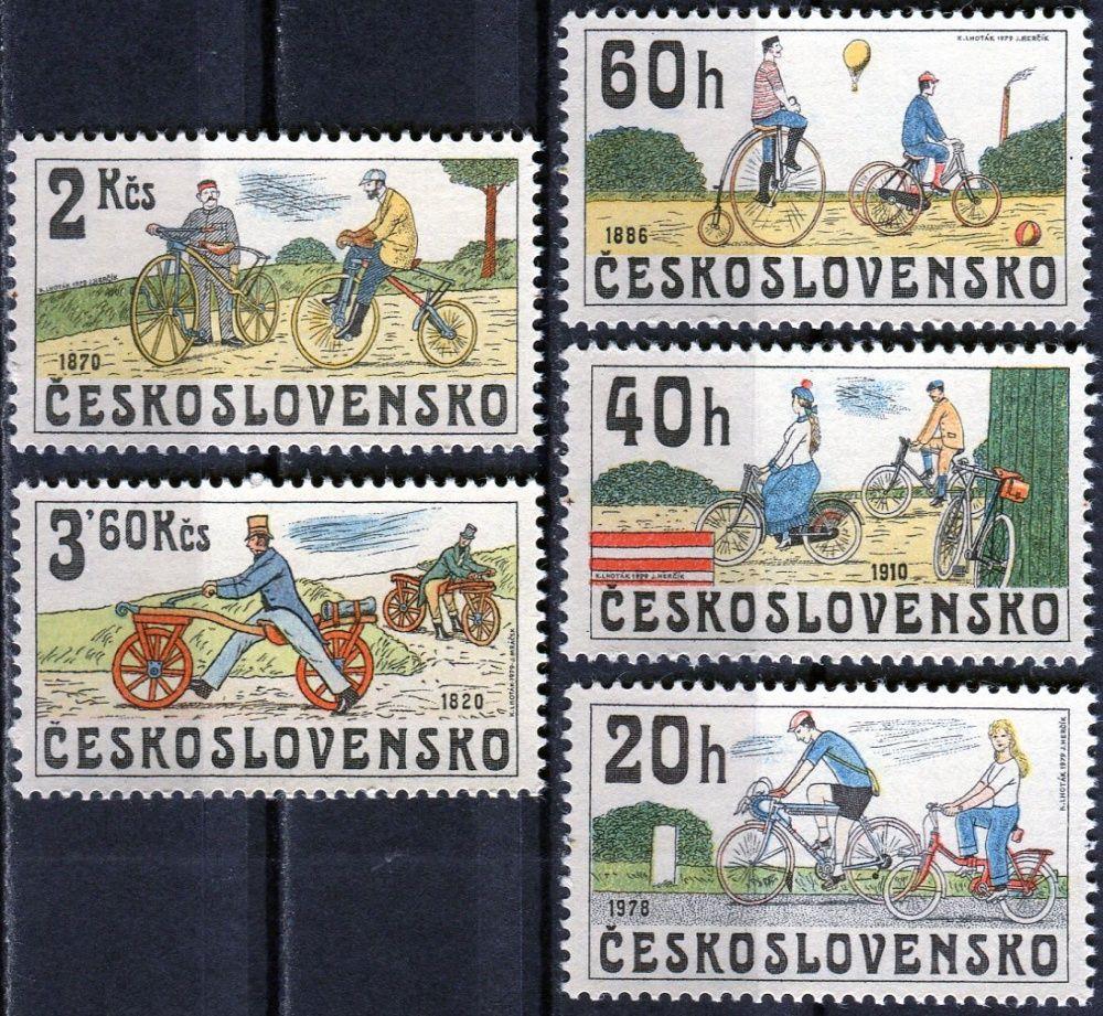 Českosloveská pošta (1979) č. 2393 - 2397 ** - ČSSR - Historická jízdní kola