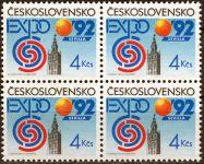 (1992) č. 3004 ** - ČSSR - 4-bl - Světová výstava EXPO 92 v Seville