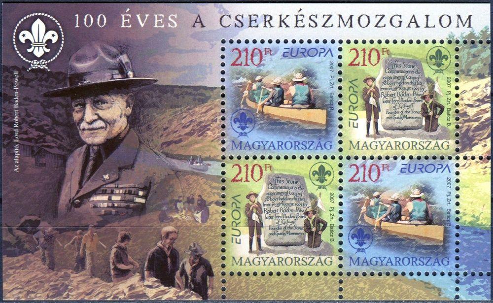 (2007) MiNr. 5186 - 5187 ** - Maďarsko - BLOCK 313 - Europa - Scout