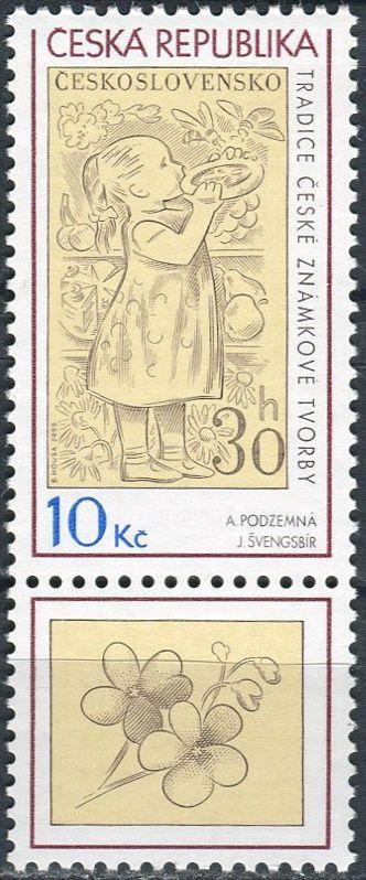 (2009) č. 587 ** - ČR - Tradice české známkové tvorby KD
