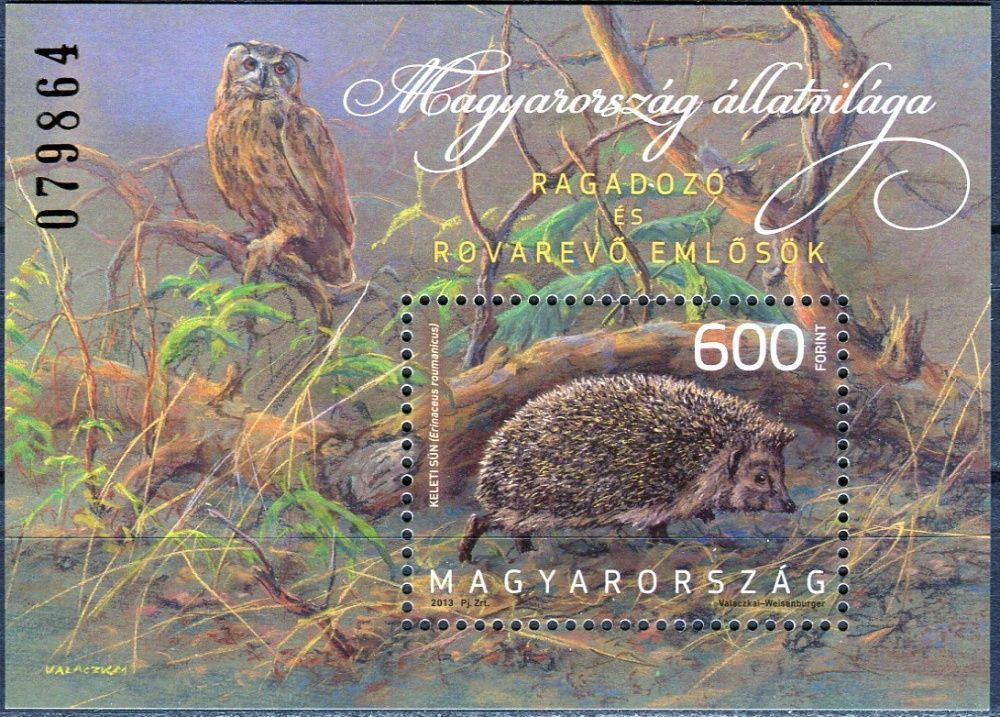 (2013) MiNr. 5623 ** - Maďarsko - BLOCK 355 - Severní ježek (Erinaceus roumanicus)