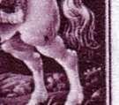 (1943) č. 102 ** - B.ü.M. - 6-bl - Den poštovní známky- DV - skvrna na stehně koně; tm. čárka ve stuze Protektorát Čechy a Morava