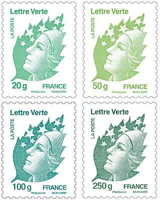(2011) č. 5185 - 5188 ** - Francie - Marianne Lettre Verte