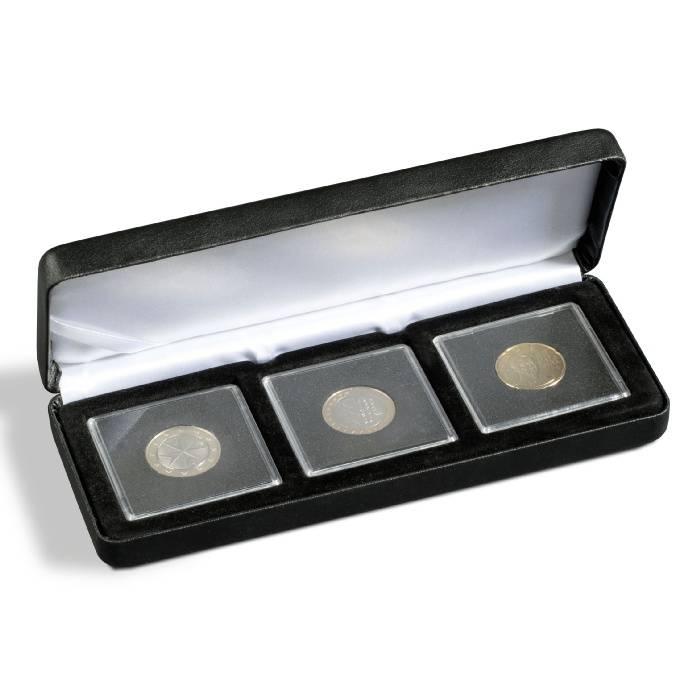 Kovová mincovní etue NOBILE pro uložení 3 bublinek QUADRUM