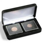 Kovová mincovní etue NOBILE pro uložení 2 bublinek QUADRUM