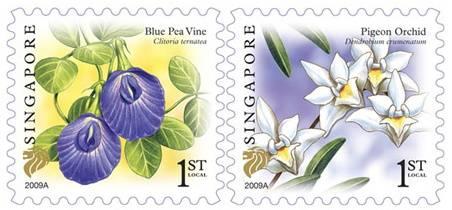(2009) MiNr. 1859 - 1860 ** - Singapur - Květiny