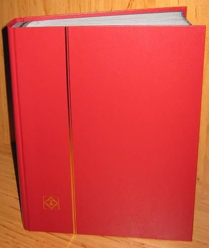 Zásobník na známky BASIC - A4, 64 stran, černé listy, průhledné pásky, nevatované desky Leuchtturm