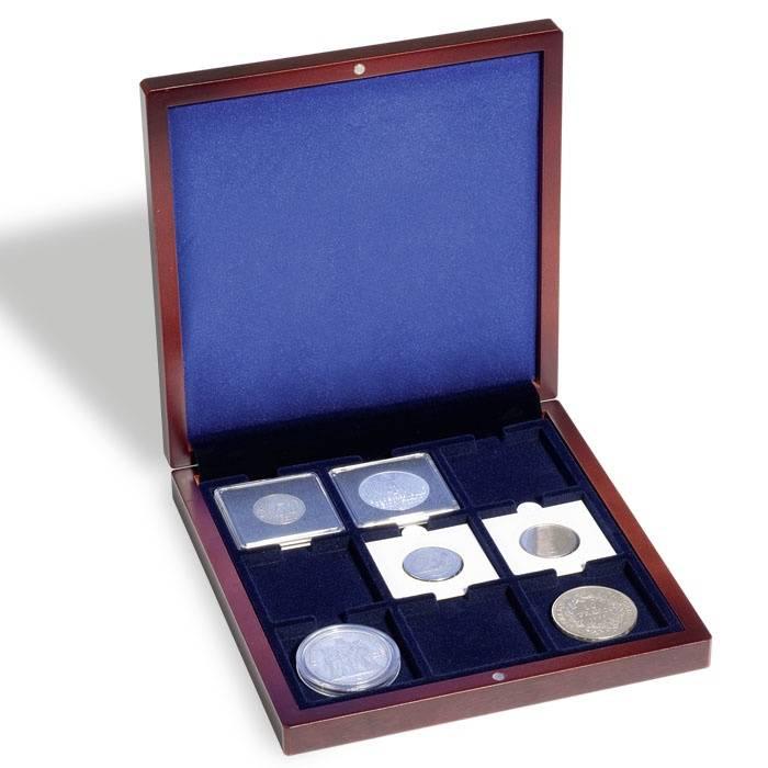 Mincovní pouzdro VOLTERRA 9 čtvercových polí na mince do 50 mm