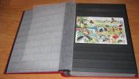 Zásobník na známky BASIC - A4, 64 stran, černé listy, průhledné pásky, nevatované desky