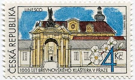 (1993) č. 7 ** - ČR - 1000 let Břevnovského kláštera v Praze - UNESCO