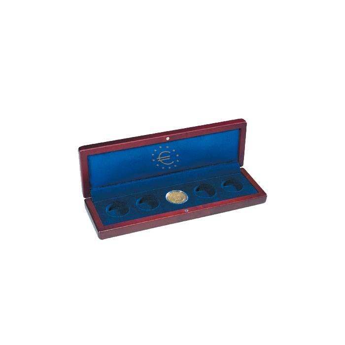 Mincovní pouzdro VOLTERRA 5x 100 Eurové zlaté mince v orig. bublinkách nebo 2 Eurové mince v Leuchtturm bublinkách